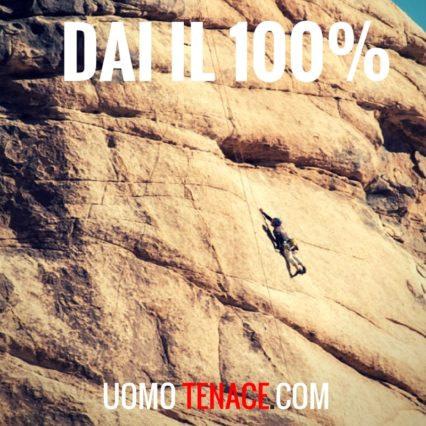La via dell'impegno. Dai il 100% in quello che fai.